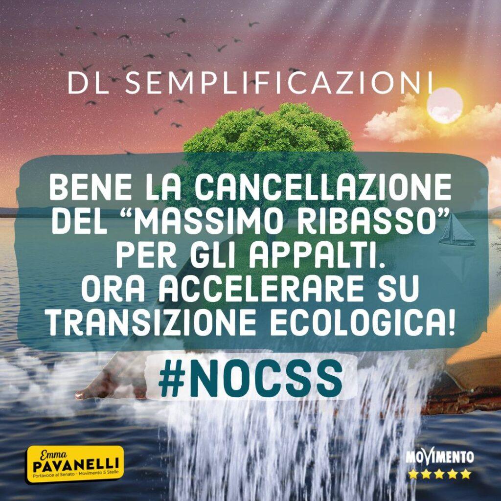 Dl Semplificazioni, via massimo ribasso, ora accelerare su transizione ecologica