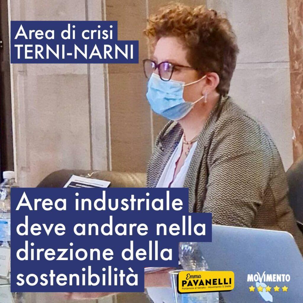 Area crisi Terni - Narni: area industriale deve andare nella direzione della sostenibilità