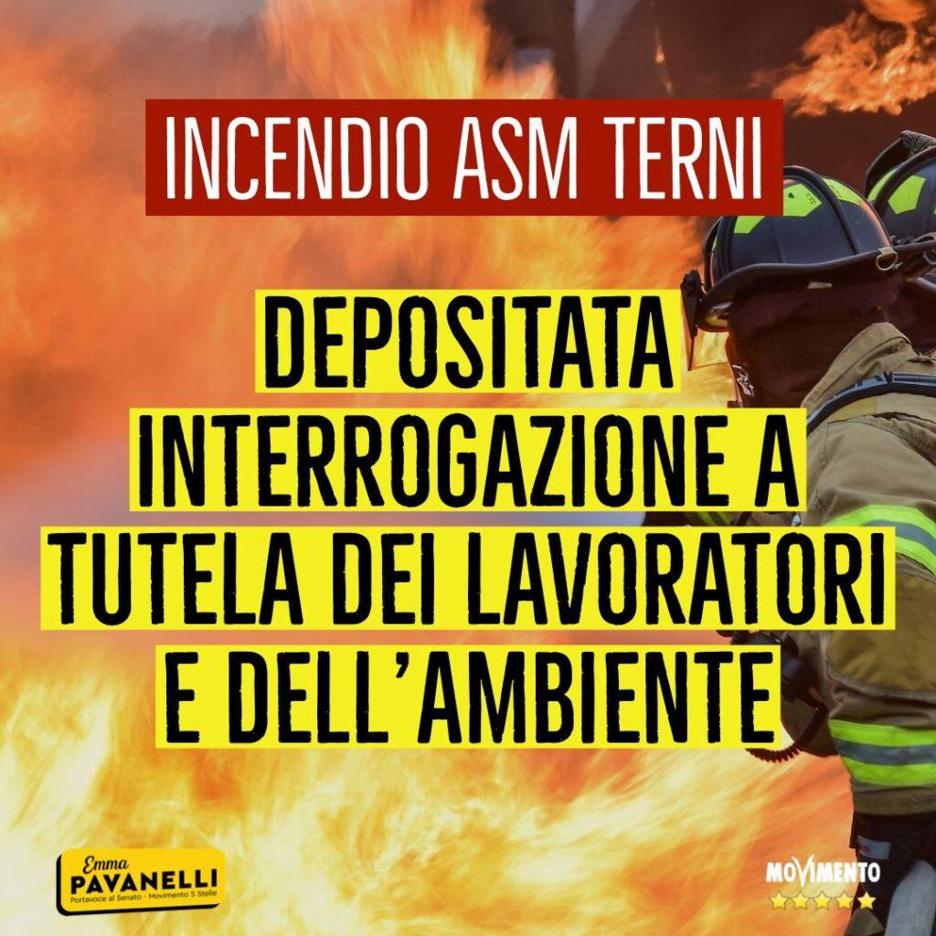 Incendio Asm, una interrogazione a tutela dell'ambiente, cittadini e lavoratori nell'impianto di Maratta